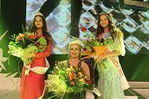 Miss Reneta 2017 Xénia Gregušová. Druhá Diana Šeděnková a třetí Kateřina Kučerová ze Šumperka.