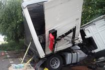Nehoda kamionu mezi Bohumínem a Dolní Lutyní.