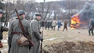 Rekonstrukce 100 let staré česko-polské bitvy u Skočova