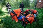 Cvičení Hasičů a HBZS na Dole Gabriela (záchrana sebevraha), 10. zaří 2019 v Karviné.