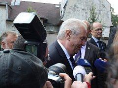Návštěva prezidenta Miloše Zemana v Českém Těšíně.