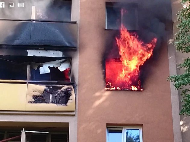 Požár domu v Karviné.