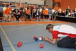 Finálové hry v turnaji v boccie v Městské sportovní hale v Havířově.
