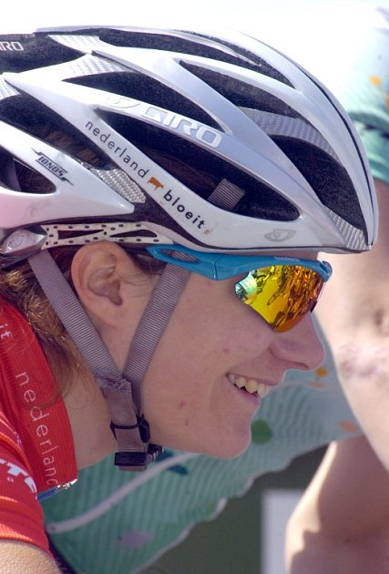 Cyklistická obojživelnice Marianne Vos zNizozemska.