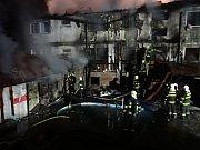 Zásah hasičů u požáru hotelu v Těrlicku.