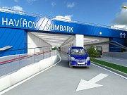 Vizualizace budoucí podoby podjezdu pod železniční tratí v Havířově.