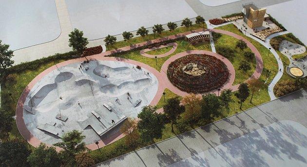 Vizualizace nového sportoviště se skateparkem vHavířově.