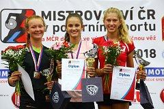 Dobrovolná hasička Izabela Jurenková přivezla z MR stříbrnou medaili v kategorii ml. dorostenek.