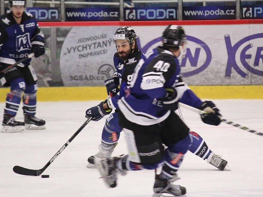 Havířov (v modrém) nestačil na Prostějov.