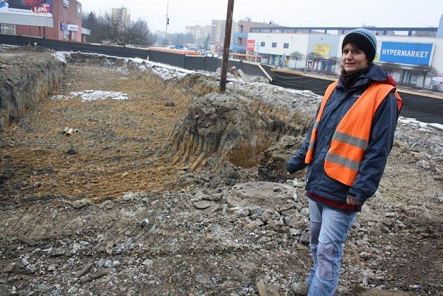 Archeologický průzkum při stavbě náměstí vOrlové.