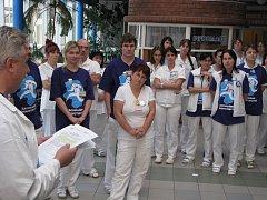 Symbolické protestní setkání lékařů havířovské nemocnice.