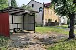 Orlová-Město. Autobusová zastávka u bývalé Klášterní kolonie.