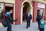 Natáčení filmu o práci asistentů prevence kriminality.