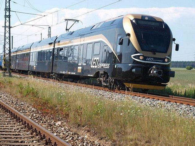 LEO Express. Snímky z testování soupravy na zkušebním okruhu.