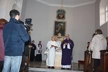 V kostele sv. Marka ve Fryštátě se v neděli konala slavnostní mše při příležitosti ukončení rekonstrukce kostela. Mši sloužil karvinský farář Przemyslaw Traczyk.