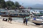 Indonéský ostrov Gili Air.