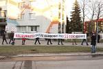 Protest Orlovanů proti výrazné redukci nemocnice ve čtvrtek 17. ledna 2019.