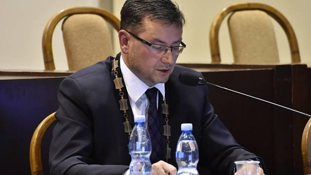 Prezident fotbalového klubu MFK Karviná Jan Wolf, primátor města.