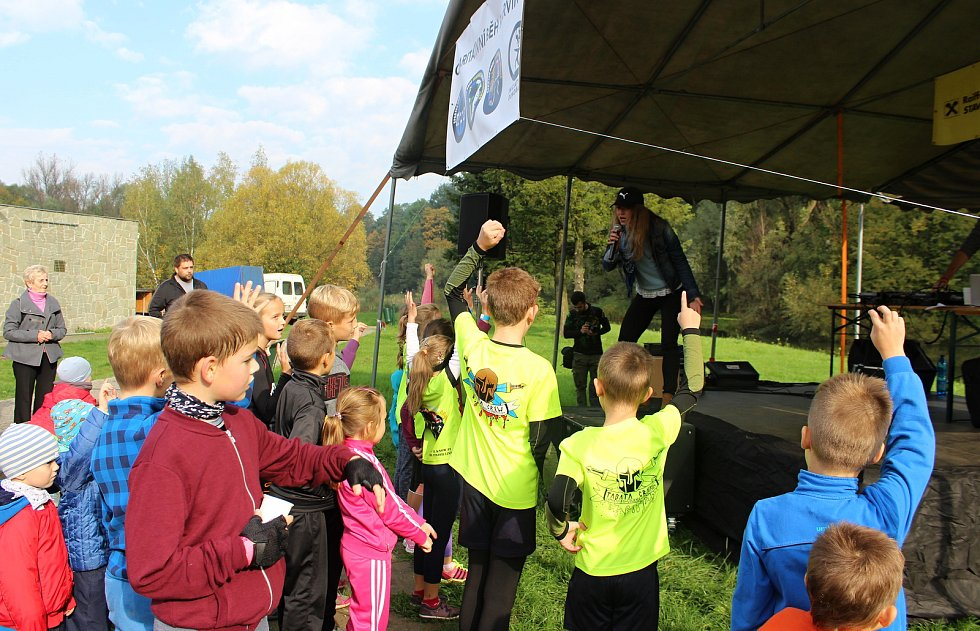 Závodu se zúčastnily i děti ze speciální mateřinky Klíček.