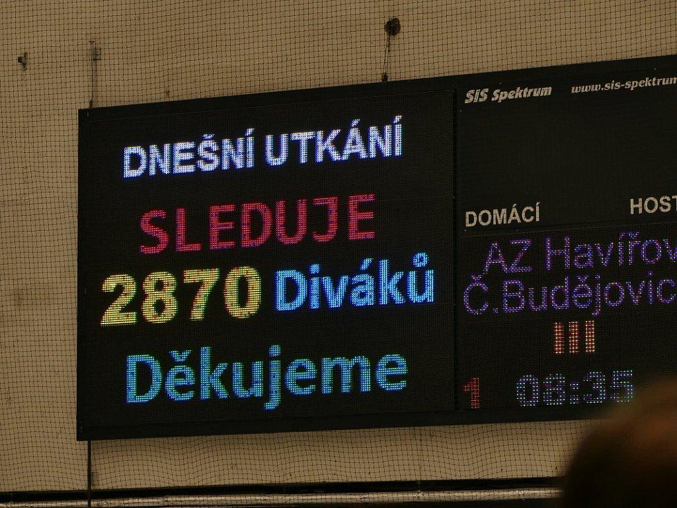 Havířov (v modrém) neuspěl proti Budějovicím ani napotřetí.