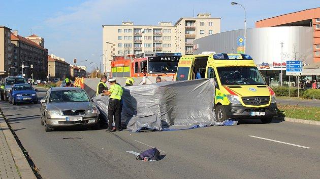 Tragická nehoda cyklistky s autem na Hlavní třídě v Havířově