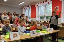 Vítání prvňáků na ZŠ Gorkého v Havířově.