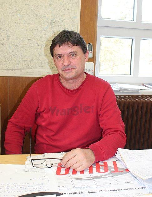 Horní Suchá. Starosta obce Jan Lipner.