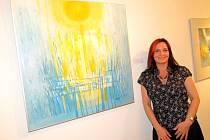 Greta Sartori na vernisáži v Galerii KD Radost.