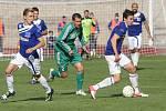 Fotbalisté Karviné (v zeleném) neměli v Ústí štěstí.