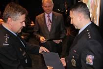 Slavnostní ocenění nejlepších policistů Karvinska.