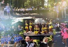 Výstava v OC Elan v Havířově věnovaná jubileu Hornické kapely ze Stonavy.