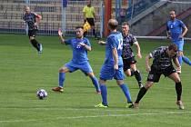 Divizní utkání mezi Havířovem (v modrém) a Polankou vyhráli domácí Indiáni.