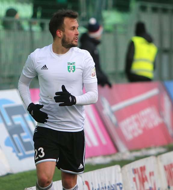 Lukáš Budínský proti Zlínu proměnil penaltu a nahrál na gól Marku Janečkovi.