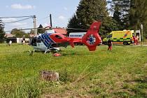 Zraněním řidiče motocyklu skončila středeční dopravní nehoda ve Stonavské ulici v Horní Suché poblíž obchodu.