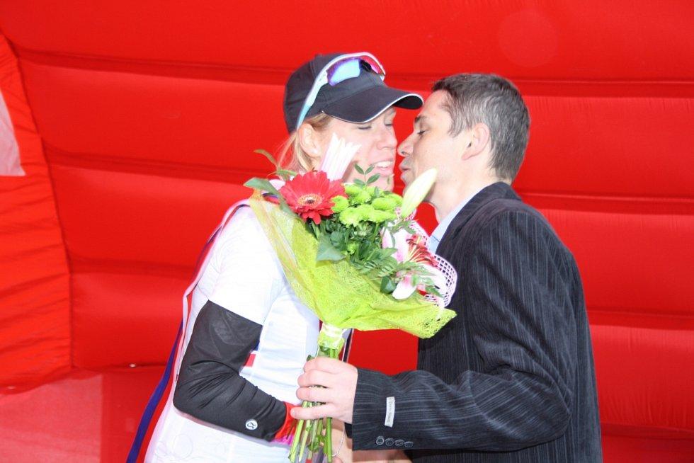 Vítězka bodovací soutěže Ellen van Dijk z Nizozemska.