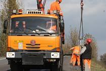 Oprava silnice v Karviné-Loukách