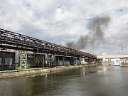 Bohumínské železárny zachvátil v sobotu obrovský požár.