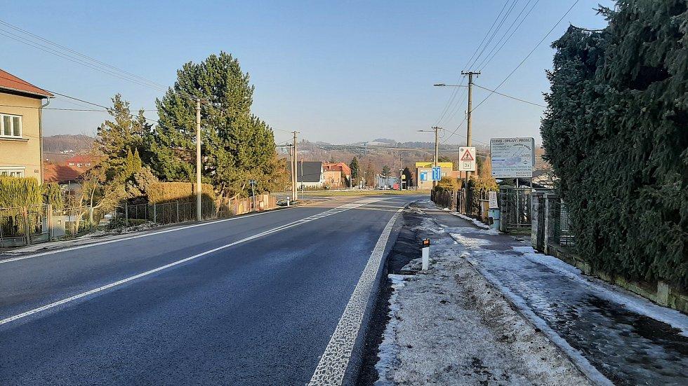 Těrlicko, příjezd do obce od Havířova.