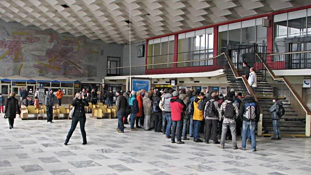 Hala havířovského vlakového nádraží.