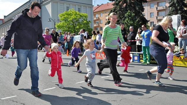 Běh ulicemi města Bohumína.