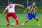 Zápas I.A třídy Orlová - Stonova (žlutomodré barvy).