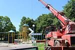 Modernizace dětského parku v centru Havířova.