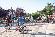 Půlhodinová cyklotrasa okolo Karviné vedla od zdejšího Univerzitního náměstí až do Starého Města.