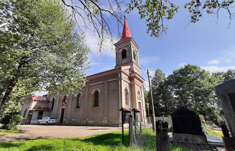 Prostřední Suchá. Katolický kostel Narození sv. Jana Křtitele.