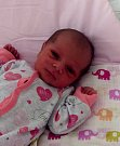 Ariana Parčiová z Karviné, narozena 16. 8. Váha 3020 g, míra 47 cm. Maminka Klaudie Parčiová.