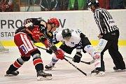 Havířovští hokejisté (v bílém) nedali v Prostějově ani gól.