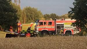 Zásah záchranářů u nehody v Horní Suché