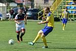 Fotbalový klub SK Stonava. V poslední přípravě před sezonou domácí hráči (ve žlutém) porazili Věřňovice 4:1.