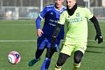 Fotbalové derby Baník Ostrava (modré dresy) - MFK Karviná 1:1.