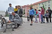 Starosta Bohumína Petr Vícha převzal petici obyvatel ubytoven.